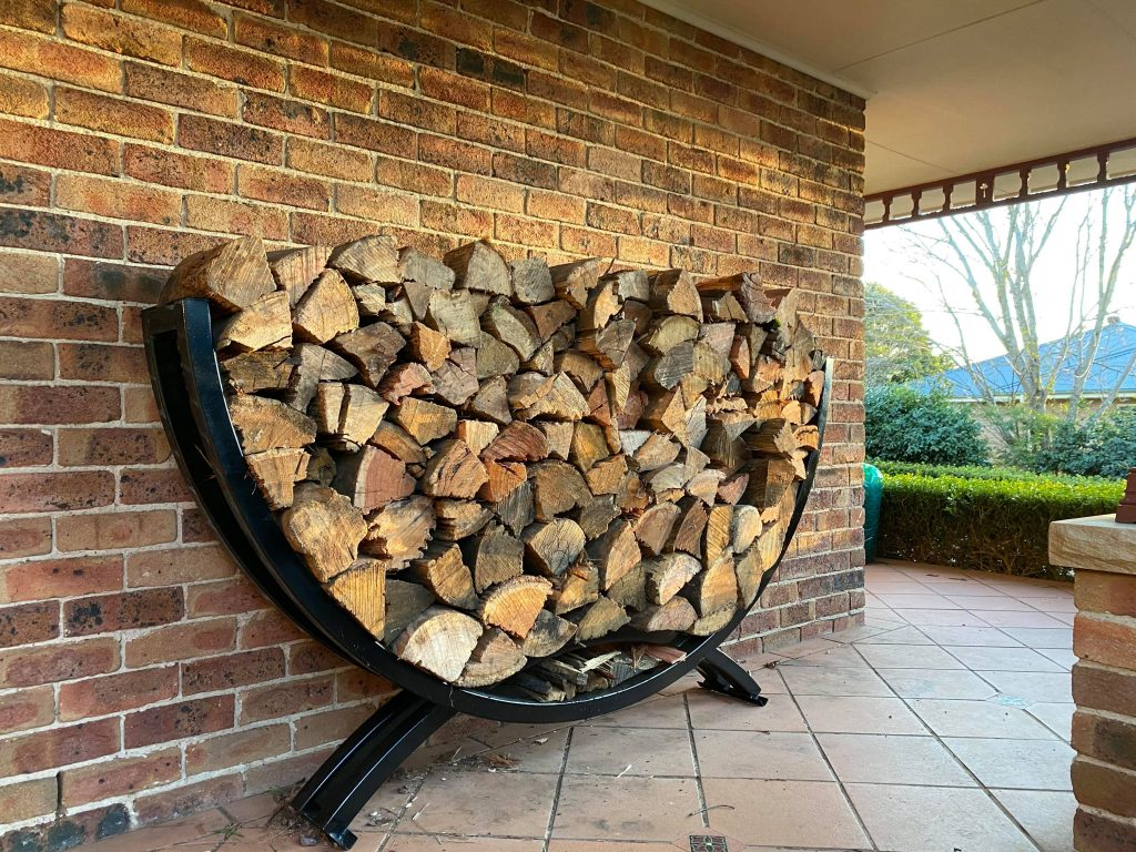 build from steel, custom custom steel fabrication, finigan wright fabrication, fire wood stacker, fire wood storage, firewood stacker, metal fabrication, robertson new south wales, robertson nsw, southern highlands, southern highlands steel, steel fabrication, wood stacker