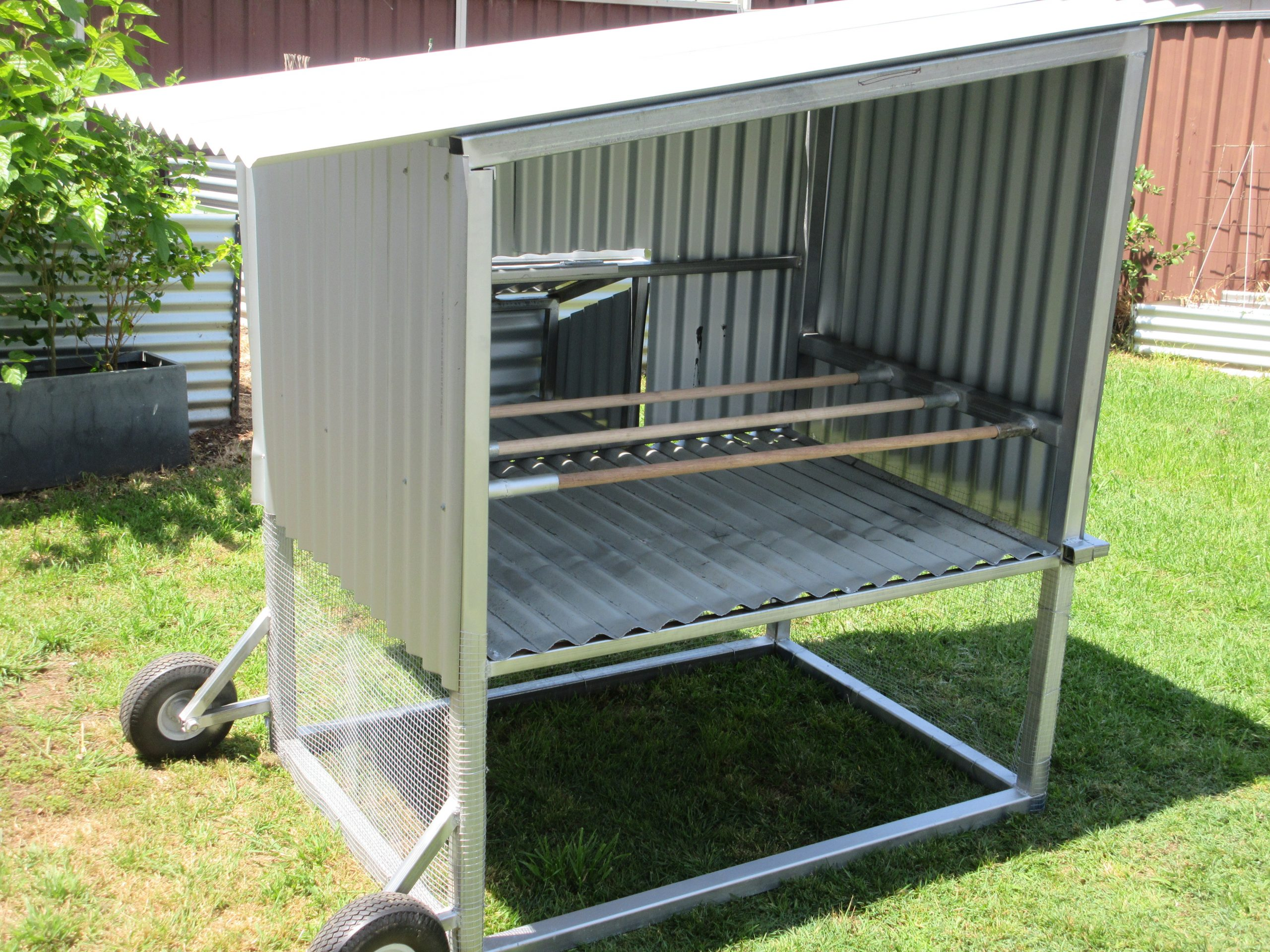 build from steel, Chicken Coop, Chicken Hutch, Chickens, custom chicken coop, custom chicken hutch, custom steel fabrication, finigan wright fabrication, Hutch, metal fabrication, robertson new south wales, robertson nsw, steel chicken hutch, steel fabrication